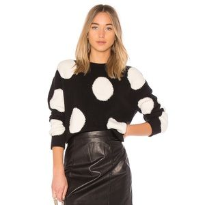 ALICE + OLIVIA GLEESON SWEATER black and white